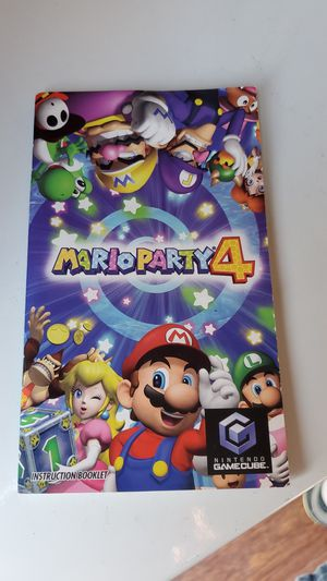 Mario party 4 manual only for Sale in TEMPLE TERR, FL
