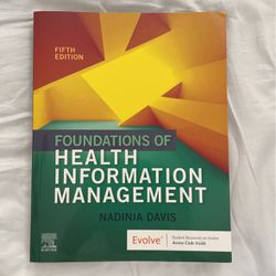 Foundations Of Health Information Management for Sale in Ypsilanti,  MI