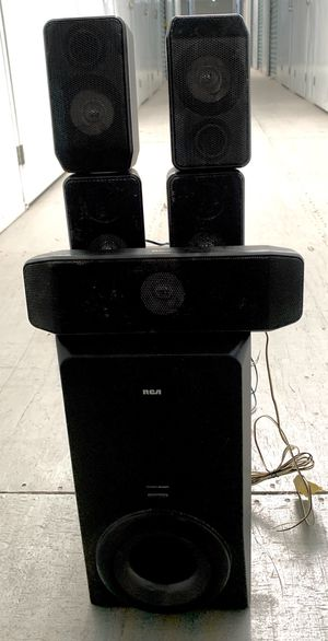 RCA surround sound subwoofer and surround speakers for Sale in Tustin, CA