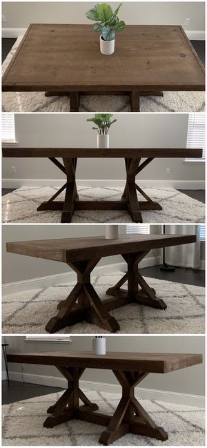 6FT x 3FT Solid Wood Rustic Farmhouse Dining Table for Sale in Stockton, CA