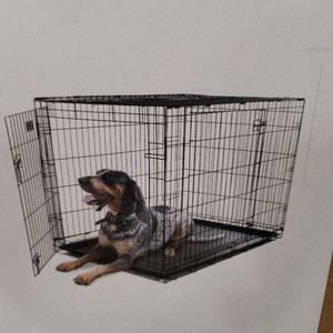 """48"""" folding dog crate $55 FIRM for Sale in Redlands, CA"""