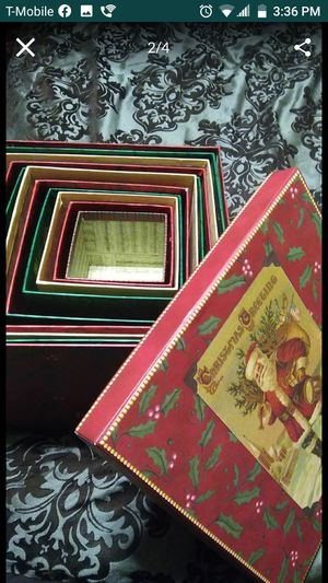 11 decorative Christmas boxes gift boxes nesting for Sale in Bonney Lake, WA