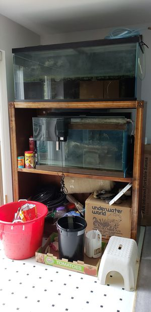 custom built stand and 75 gal. & 50 gal. tanks for Sale in Darnestown, MD