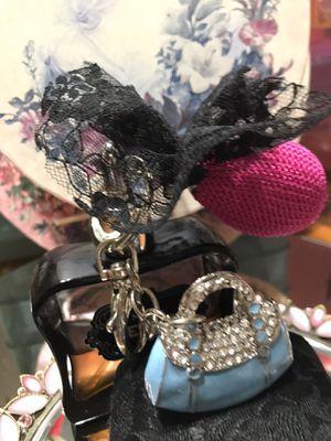 Pretty!! Silver Turquoise Blue purse Key chain for Sale in Gainesville, VA