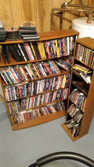 Assorted DVDs with shelves for Sale in Virginia Beach, VA