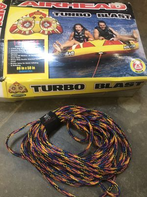 Airhead 1-2 Person Towable Tube w/ Rope - Turbo Blast for Sale in Homer Glen, IL
