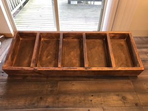 5 compartment wooden organizer. for Sale in Issaquah, WA