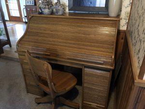 Antique Oak Roll Top Desk for Sale in Wilsonville, OR