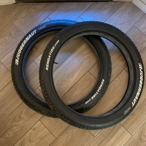 Fat Tires Kenda Tire Juggernaut 26x 4.0 Tubes Included Bicycle Fat Tires for Sale in Corona, CA