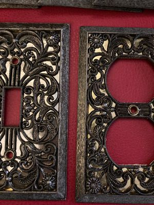 Vintage Ornate Brass and Gold Switch Plates & Outlet Covers for Sale in Corona, CA