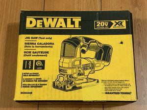 DEWALT 20-Volt MAX XR Lithium-Ion Cordless Brushless Jigsaw DCS334B for Sale in Garden Grove, CA