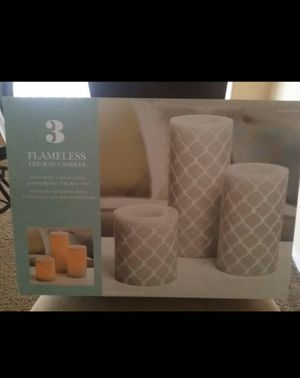 New set of decorative flameless candles with timer for Sale in San Jacinto, CA