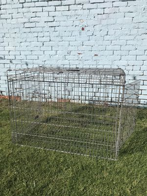 "Folding 42"" Dog Cage 2-Door Pet Crate Kennel 42""x27""x30"" for Sale in Long Beach, CA"