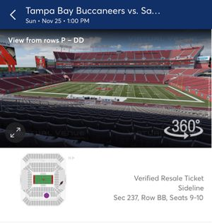 2 or 4 tickets Tampa Bay Bucs vs SF for Sale in Bartow, FL