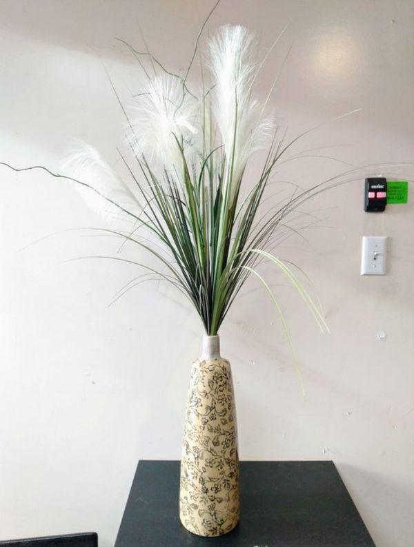 Fake Plant In Ceramic Pot Decor