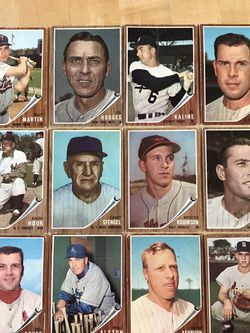* (95) 1962 TOPPS BASEBALL CARDS * HALL of FAME PLAYERS/NL & AL LEADERS * for Sale in Walnut Creek,  CA