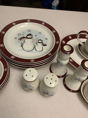 "Christmas dining set of 4. ""Royal Seasons"" stone wear for Sale in Port St. Lucie, FL"