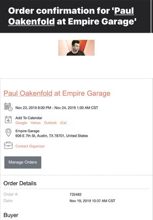 Paul Oakenfold Concert for Sale in Grand Rapids, MI