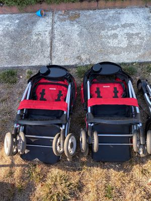 (2) Kolcraft Red one-hand folding strollers for Sale in Castro Valley, CA