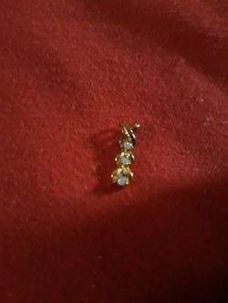 Women's Vermeil Real Three Diamonds Pendant for Sale in Oklahoma City,  OK