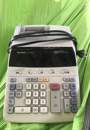 Sharp EL-2192RII Accounting Calculator 12 Digits 2 Color Printing for Sale in Lawndale, CA