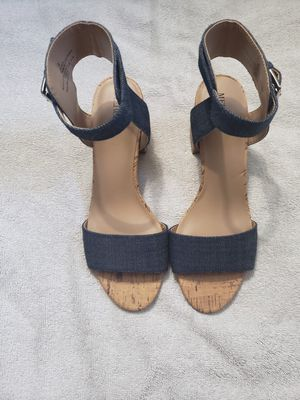 Merona Blue Jean Sandals, size 8 for Sale in St. Petersburg, FL
