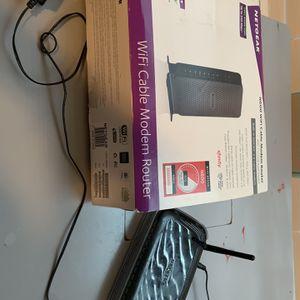 NETGEAR WIFI CERTIFIED CABLE MODEM ROUTER + Netgear Modem Free for Sale in Dallas, TX