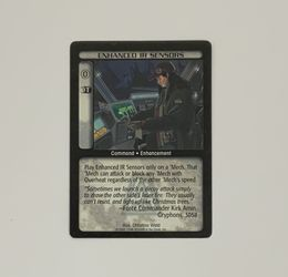 Battletech Enhanced IR Sensors TCG 1996 CCG Wizards of the Coast Trading Card CE for Sale in Oregon City,  OR