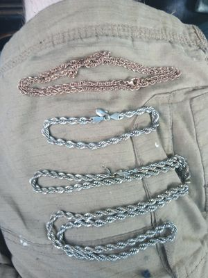 Assorted brushed rose gold and stamped .925 silver jewelry for Sale in Lawrenceville, GA
