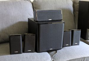 Yamaha complete 5.1 speaker home theater system for Sale in Washington, DC