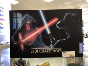 Lenovo Star Wars Jedi Challenges Ar headset with lightsaber controller and tracking beacon, like new in box. Retail $79.99 only asking $39.99! for Sale in Dubuque, IA
