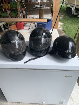 HJC motorcycle helmets. Full face in small and XL. Half in XL for Sale in Hoboken, GA