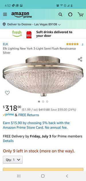 $250 ELK LIGHTING CEILING FIXTURE for Sale in Las Vegas, NV