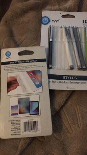 Bundle stylus & ipad/ tablet volume enhancer for Sale in Durham, NC