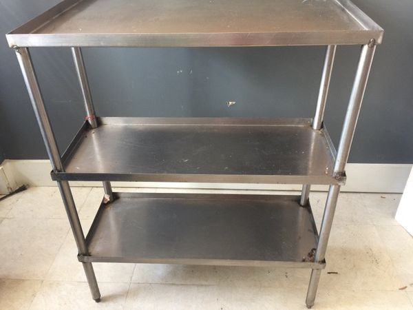Stainless steel Table and Shelf