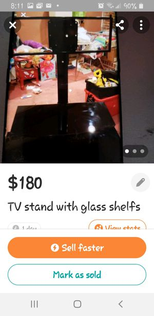 TV stand glass for Sale in Columbia, SC