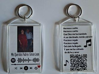 Llaveros Personalizados Con Spotify Code $6 O 2 Por $10 for Sale in Lawrenceville,  GA