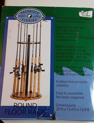 Organized Fishing Round Floor Rack for Sale in Avondale, AZ