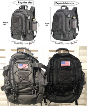 WolfWarriorX Large Capacity Military Tactical Hiking Expandable 39L-60L Backpack- $30ea or 2 For $50 for Sale in Pomona, CA