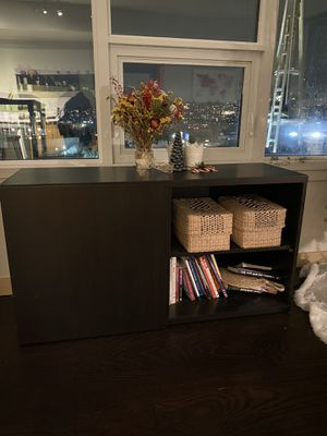 Brown/Black TV Stand for Sale in Seattle, WA
