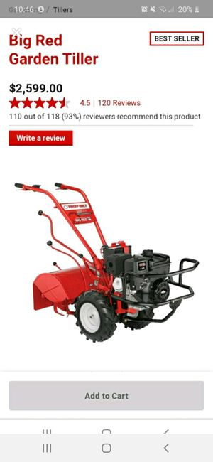 Troy built red horse tiller brand new used only once for Sale in Marietta, GA