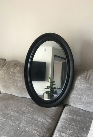 Black oval mirror for Sale in Beverly Hills, CA