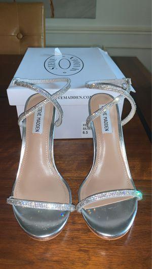 Festive silver Steve Madden Heels Size 6.5 for Sale in Houston, TX