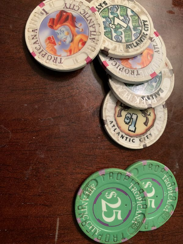 $55 in Atlantic City casino chips