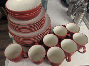 Noritake Colorwave Rasberry stoneware dinner sets for Sale in Seattle, WA