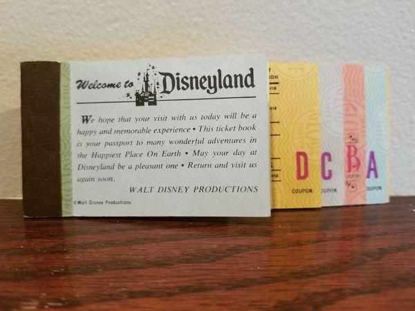 Old Disneyland Park Admission Tickets