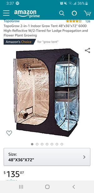 Amazon grow tent for Sale in Sunnyvale, CA