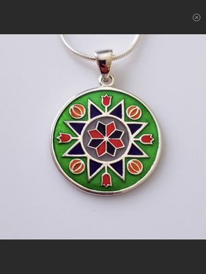 NWT Sterling Silver & Enamel Tapestry of Love Pendant New with tags! for Sale in Arbovale, WV