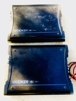 Kicker Amplifiers set / Monoblock Amp and 4 Channel Amp for Sale in Sanger, CA