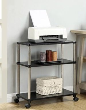 NEW!! Mobile Office Caddy, Black, office storage, shelving for Sale in Tempe, AZ